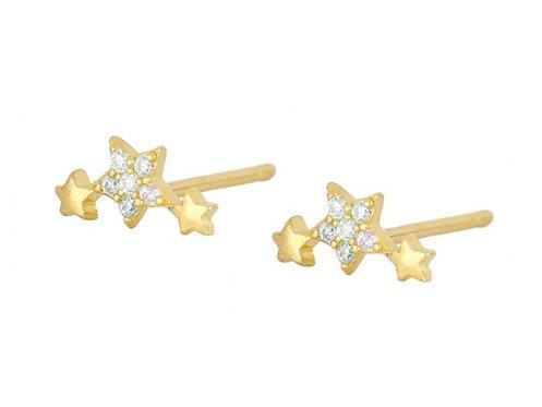 Star Curve Stud Earrings