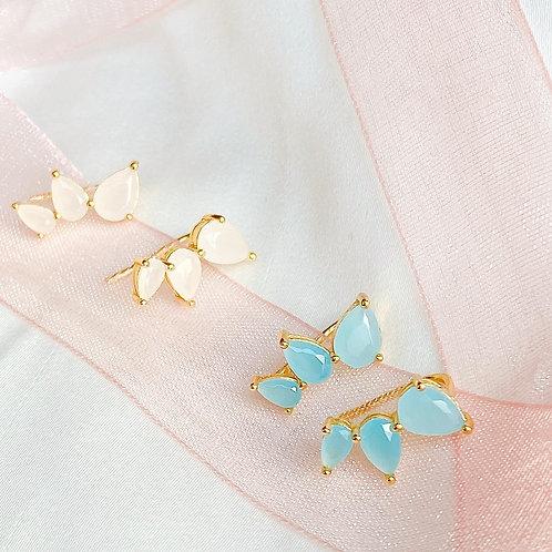 Gradient climber earrings