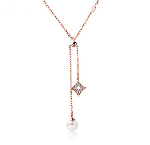 Adjustable Pearl And Stella Necklace