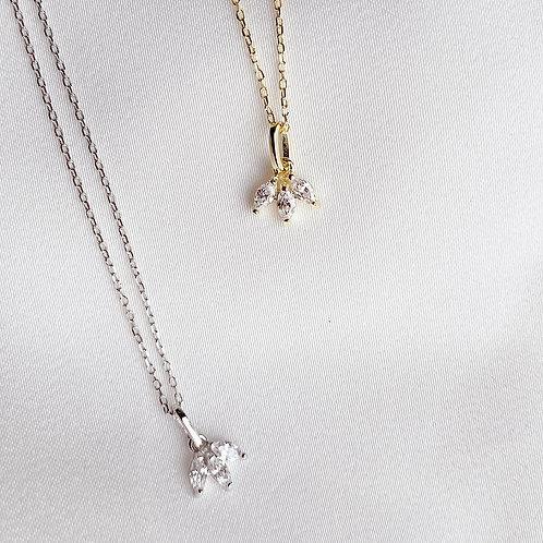 Sparkling teardrop Czs necklace