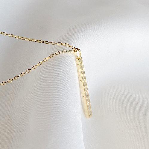 Love Pave Bar Drop Necklace