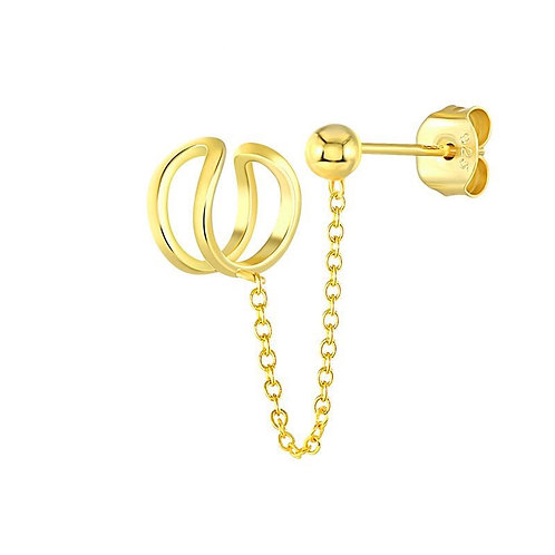 Stud Connect Chain Ear Cuff