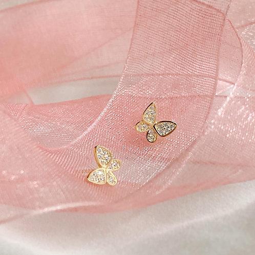 Pave Czs butterfly earrings