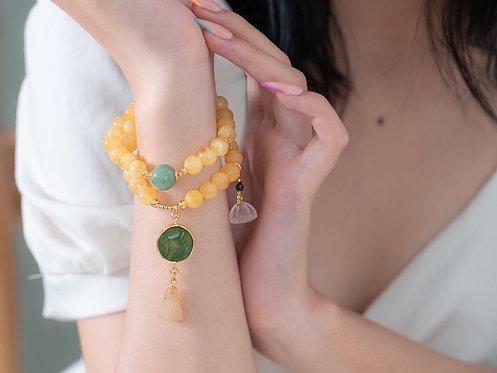 Natural Baltic Amber Gemstone bracelet