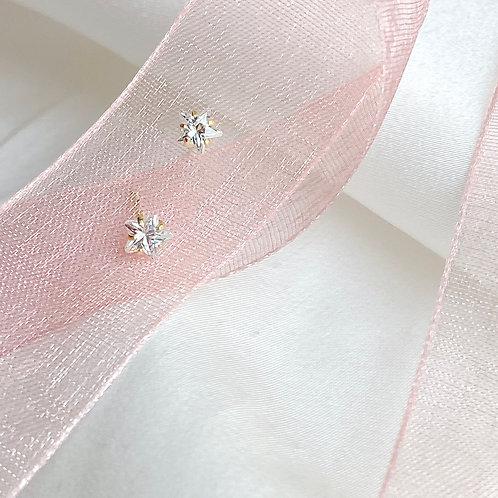 Mini star Czs earrings