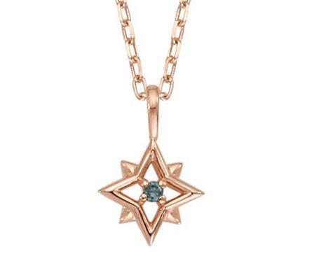 Blue CZ Stella Necklace