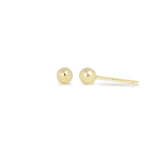 14K Solid Gold  ball stud earring