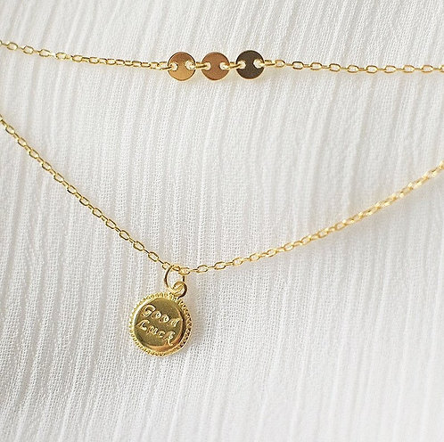 Double chain Goodluck necklace