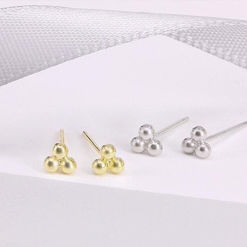 Minimalist 3 Dots Dainty  Stud Earrings