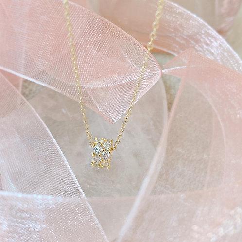 Czs pave wheel necklace