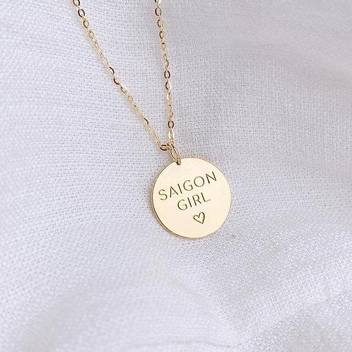 Vietnam custom disc necklace