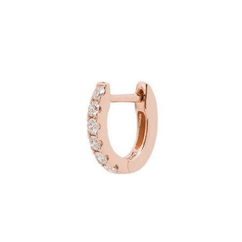 Small chubby huggie pave earring