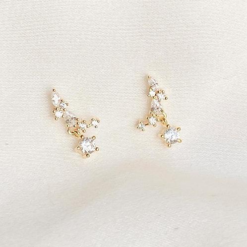 Bling Moon Czs earrings