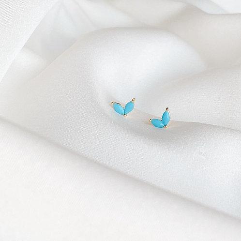Turquoise wing earrings