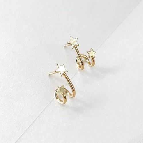 Duo Stars stud earrings