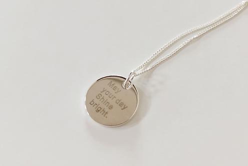 Custom Large Disc engraved necklace