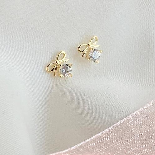 Little bow Czs earrings