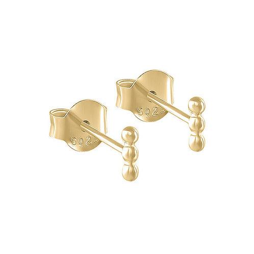 3 dots Line Stud Earrings