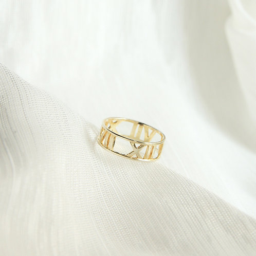 Custom Roman Numerals Ring