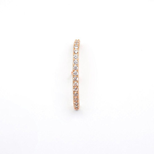 Pave suspended earring (single)