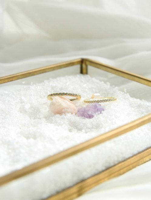 Bazel pave  ring