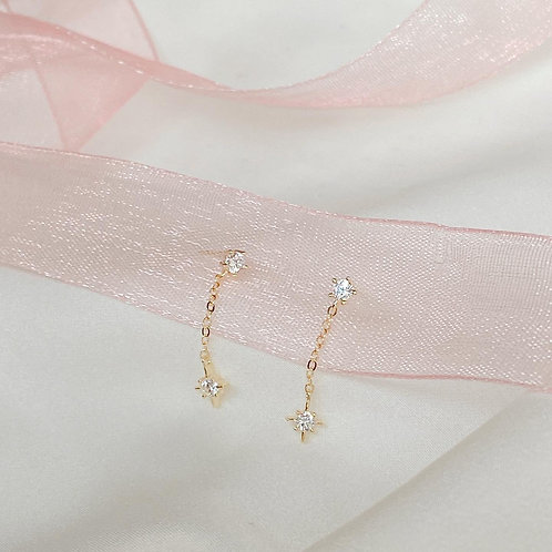 Stella chain dangle earrings
