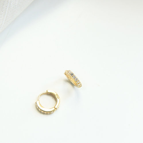 Pave Small Hoops