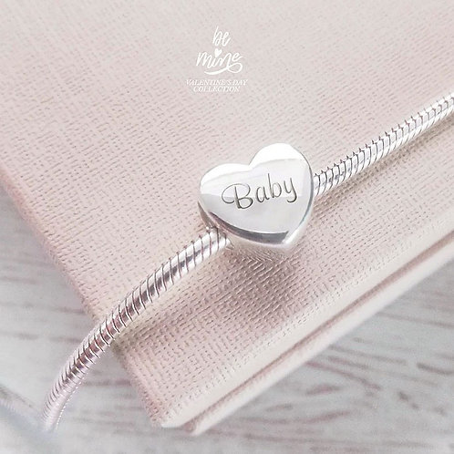 Heart engrave charm