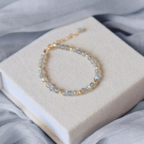 Gemstone with silver ball charm bracelets