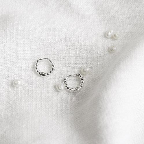 Beaded Huggies Earrings (6mm)