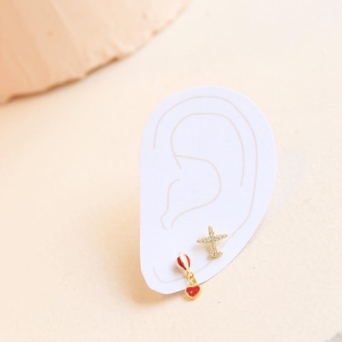 Hot air ballon stud earrings