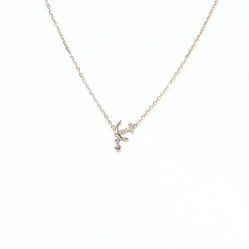 Sparkle Anchor Necklace