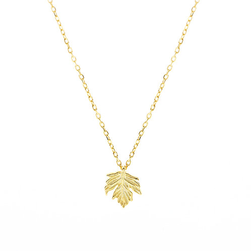 Golden Leave Necklace