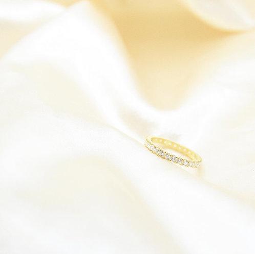 Medium Eternity Pave ring