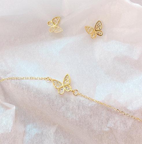 Pave Butterfly bracelet