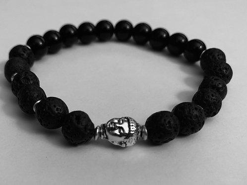 Lava Stone & Jasper Zen Bracelet
