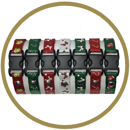 Christmas Identification collars for puppies and kittens , sold by Posh Pets Boutique