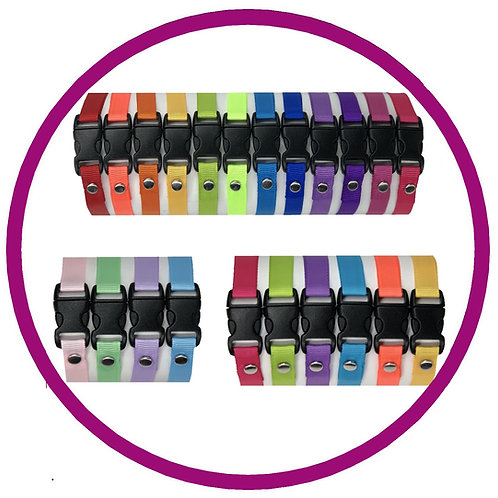 Range of Plain Coloured Whelping Identification collars from Posh Pets Boutique