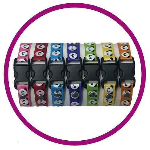 Coloured Panda Print Whelping ID Collars from Posh Pets Boutique