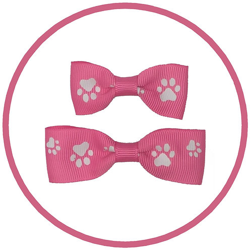 Hot Pink Paw Print Dog Hair Barrette Clip from Posh Pets Boutique