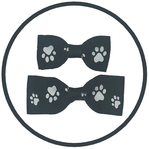 Black Paw Print Dog Hair Clip from Posh Pets Boutique