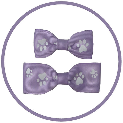 Lilac Paw Print Hair Bow for Dogs from Posh Pets Boutique