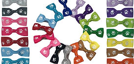 Dog-Hair-Bows-paw-print-barrette-spring-