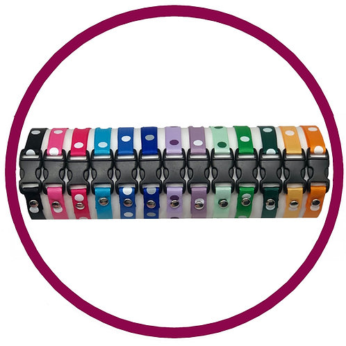 Spot print whelping id collar in range of colours from Posh Pets Boutique