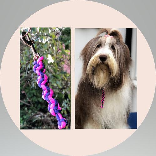 Hot Pink & Purple Stripe Grab Tag