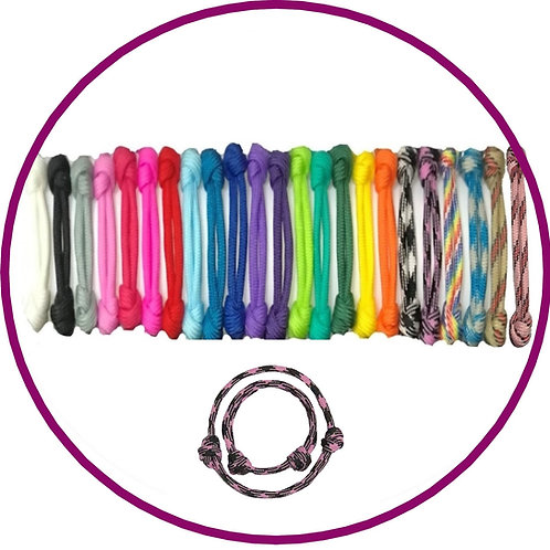 Paracord coloured puppy id whelping collars by posh pets boutique