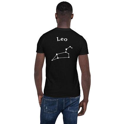 Leeuw-Leo T-Shirt sterrenbeeld op de rug