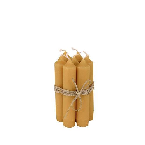 Kerze 11cm Mustard