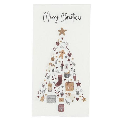 Servietten mit Weihnachtsbaum Motiv