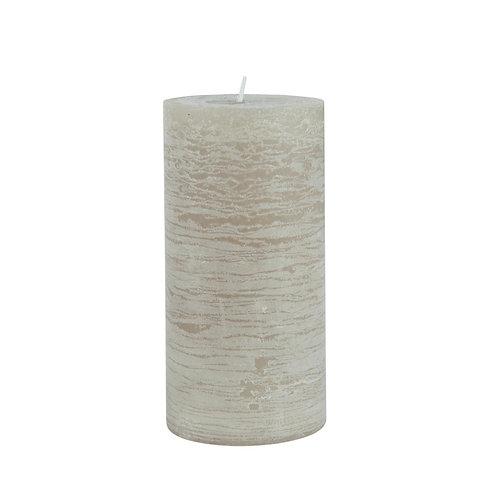 Rustikale Kerze 14cm Grau Natur
